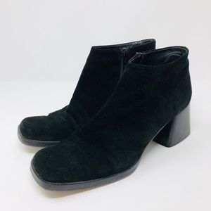 VIA SPIGA black suede booties, made in Italy